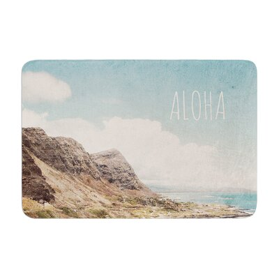 Nastasia Cook Aloha Mountain Beach Memory Foam Bath Rug
