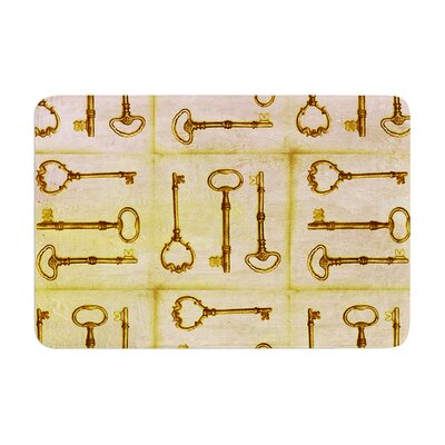 Marianna Tankelevich Secret Keys Memory Foam Bath Rug Color: Tan/Brown