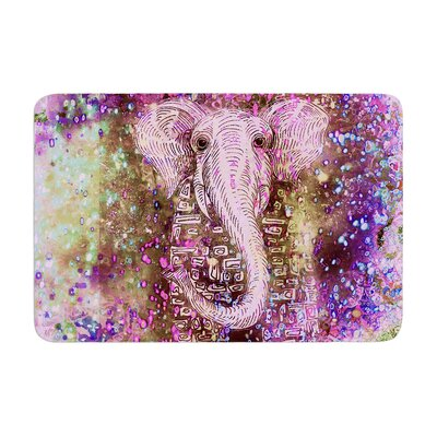 Marianna Tankelevich Dust Magic Elephant Sparkle Memory Foam Bath Rug