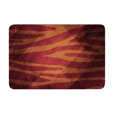 Nick Atkinson Zebra Texture Memory Foam Bath Rug