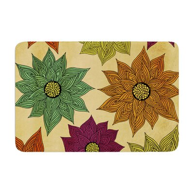 Pom Graphic Design Color Me Floral Memory Foam Bath Rug
