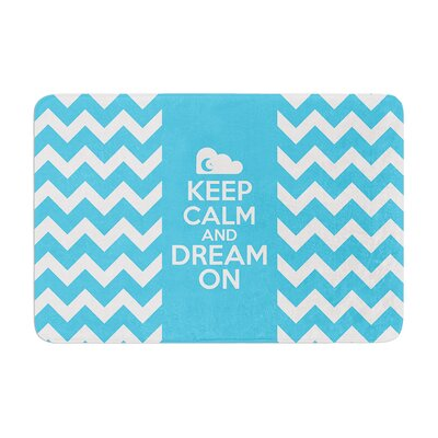Nick Atkinson Keep Calm Memory Foam Bath Rug
