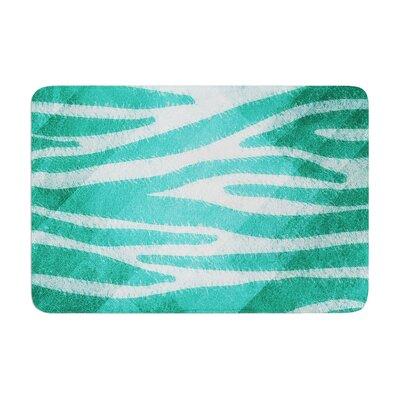 Nick Atkinson Zebra Print Texture Memory Foam Bath Rug