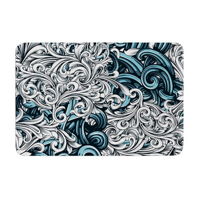 Nick Atkinson Celtic Floral II Abstract Memory Foam Bath Rug