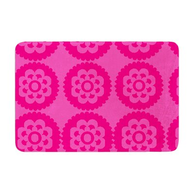 Nicole Ketchum Moroccan Hot Memory Foam Bath Rug Color: Hot pink