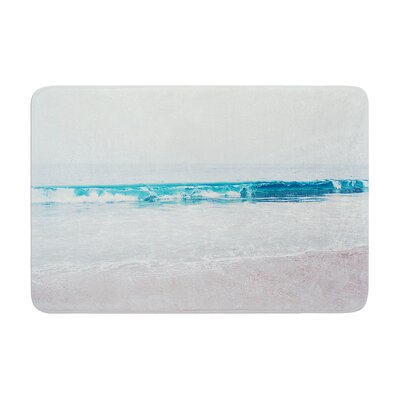 Nastasia Cook Crystal Clear Ocean Wave Memory Foam Bath Rug
