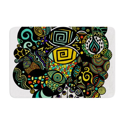 Pom Graphic Design Multicolor Life Memory Foam Bath Rug