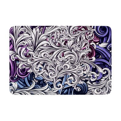 Nick Atkinson Celtic Floral I Abstract Memory Foam Bath Rug