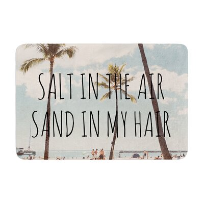 Nastasia Cook Salt in the Air Beach Trees Memory Foam Bath Rug