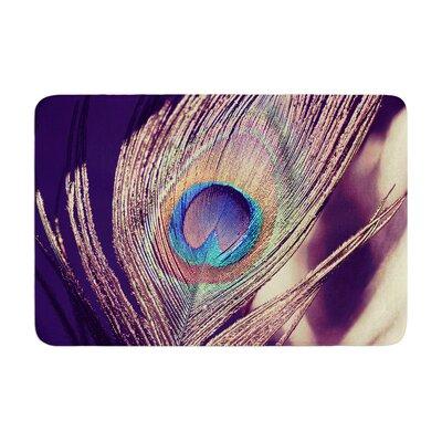 Nastasia Cook Proud as a Peacock Feather Memory Foam Bath Rug