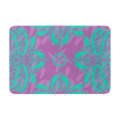 Nandita Singh Motifs Floral Memory Foam Color: Green/Purple