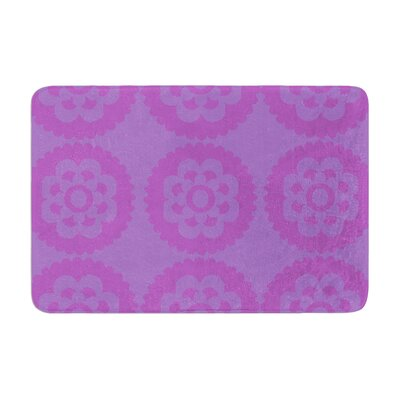 Nicole Ketchum Moroccan Hot Memory Foam Bath Rug Color: Lilac