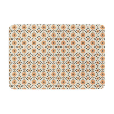 Nandita Singh Floral Pattern Memory Foam Bath Rug Color: Peach/Orange