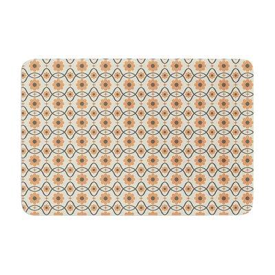 Nandita Singh Floral Pattern Memory Foam Bath Rug Color: Peach/Orange