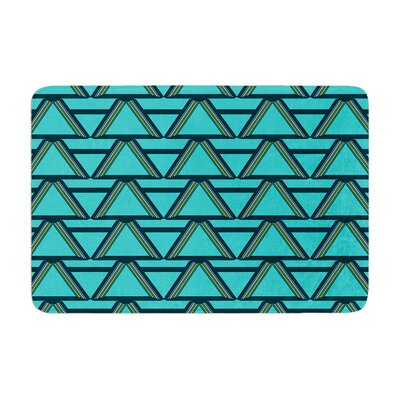 Nina May Deco Angels Choco Memory Foam Bath Rug Color: Aqua