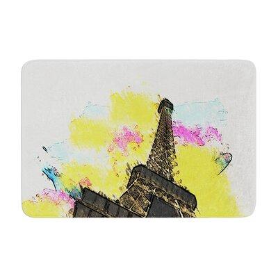 Oriana Cordero Eifel Bon Jour Paris Memory Foam Bath Rug