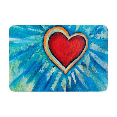 Padgett Mason Love Shines on Memory Foam Bath Rug