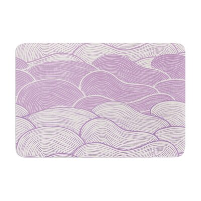 Pom Graphic Design the Lavender Seas Waves Memory Foam Bath Rug