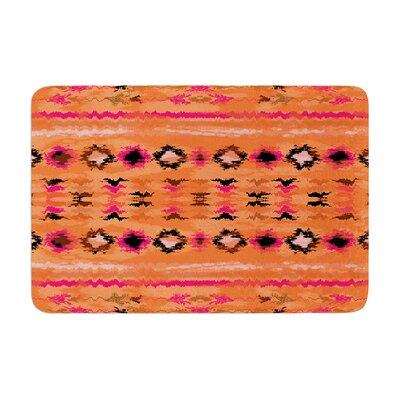 Nina May Navano Tribal Memory Foam Bath Rug Color: Orange