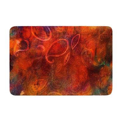 Nikki Strange Tie Dye Paisley Memory Foam Bath Rug