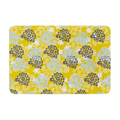 Nandita Singh and Flowers Floral Memory Foam Bath Rug