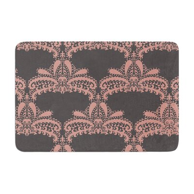 Nandita Singh Decorative Motif Floral Memory Foam Bath Rug Color: Pink