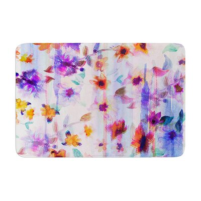 Nikki Strange Floral Ombre Memory Foam Bath Rug