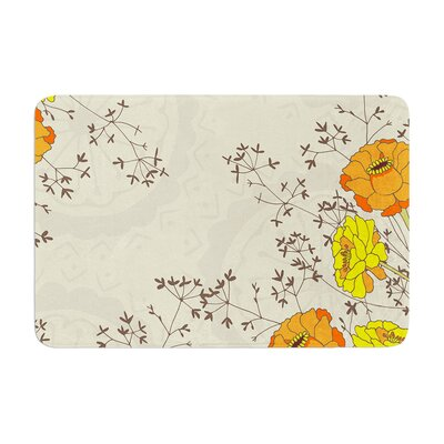Nandita Singh Flowers and Twigs Memory Foam Bath Rug