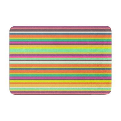 Nandita Singh Pattern Play Stripes Memory Foam Bath Rug