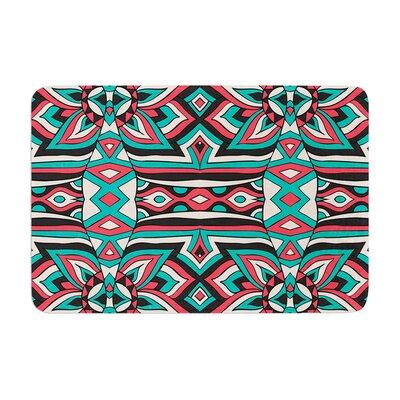 Pom Graphic Design Ethnic Floral Mosaic Memory Foam Bath Rug