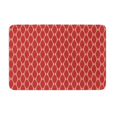 Nandita Singh Marsala and Mustard Pattern Memory Foam Bath Rug Color: Peach