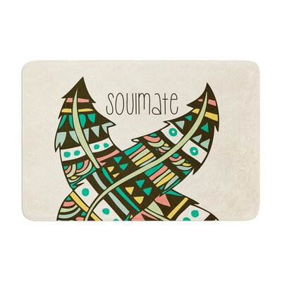 Pom Graphic Design Soulmate Feathers Memory Foam Bath Rug