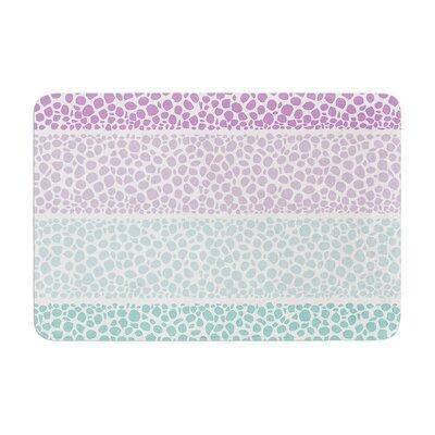 Pom Graphic Design Riverside Pebbles Colored Memory Foam Bath Rug Color: Purple/Teal