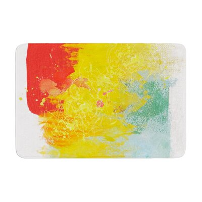 Oriana Cordero Medley Colorful Paint Memory Foam Bath Rug