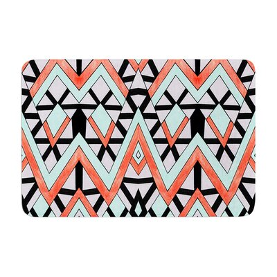 Pom Graphic Design Geometric Mountains Memory Foam Bath Rug