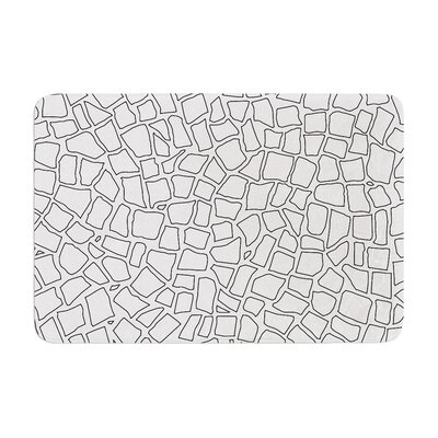 Project M British Mosaic Memory Foam Bath Rug Color: Gray
