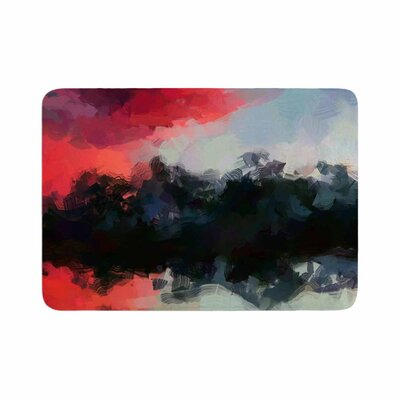 Oriana Cordero Days of Summer Abstract Memory Foam Bath Rug
