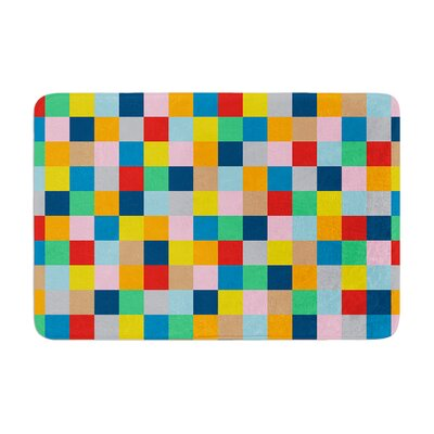 Project M Colour Blocks Zoom Geometric Memory Foam Bath Rug