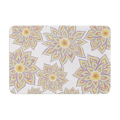 Pom Graphic Design Floral Dance Memory Foam Bath Rug Color: Gray