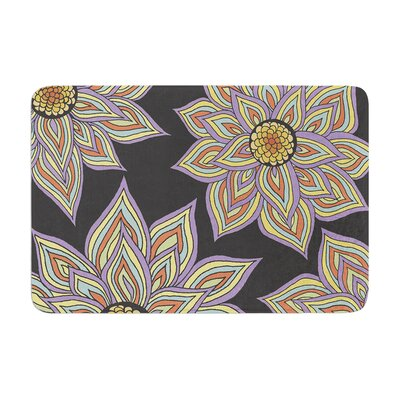 Pom Graphic Design Floral Rhythm Memory Foam Bath Rug Color: Black