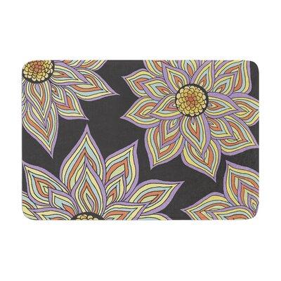Pom Graphic Design Floral Rhythm Memory Foam Bath Rug Color: Black