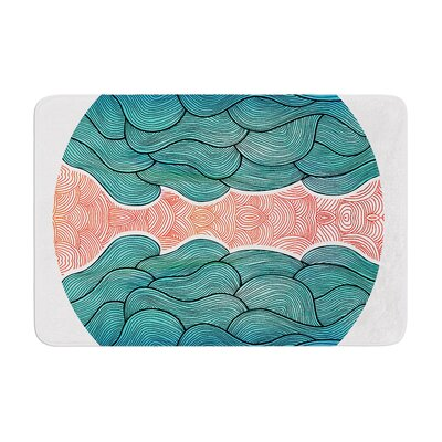 Pom Graphic Design Ocean Flow Memory Foam Bath Rug