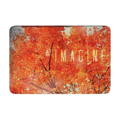 Robin Dickinson Imagine Leaves Memory Foam Bath Rug