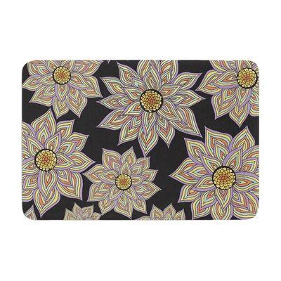 Pom Graphic Design Floral Dance Memory Foam Bath Rug Color: Black