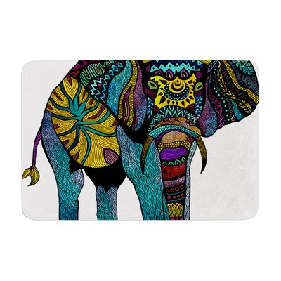 Pom Graphic Design Elephant of Namibia Color Memory Foam Bath Rug Color: Gray