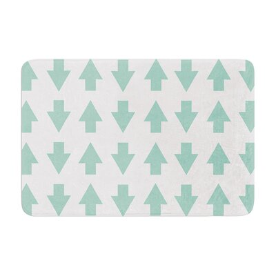 Project M Arrows Up and Down Memory Foam Bath Rug Color: Mint