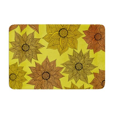 Pom Graphic Design Its Raining Flowers Memory Foam Bath Rug