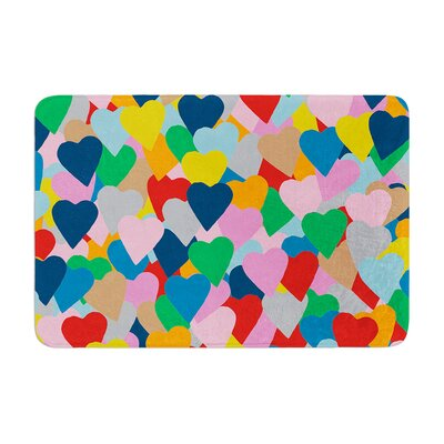Project M More Hearts Memory Foam Bath Rug