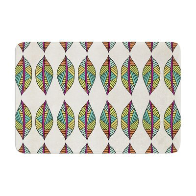 Pom Graphic Design Tribal Leaves Memory Foam Bath Rug