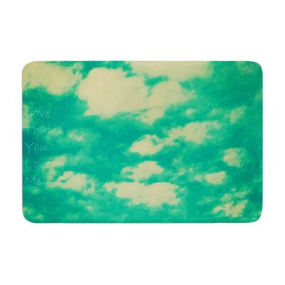 Robin Dickinson I love that you love me Memory Foam Bath Rug